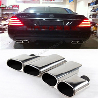 High Quality Exhaust Pipes Auto Car Exhaust Tip For Benz W221 S Class AMG Stainless Steel