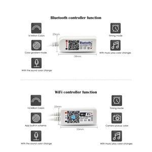 Image 4 - LED Strip light WiFi / Bluetooth RGB / RGBW Controller DC 5V 12V 24V Android IOS APP Alexa Google Magic Home IR Control