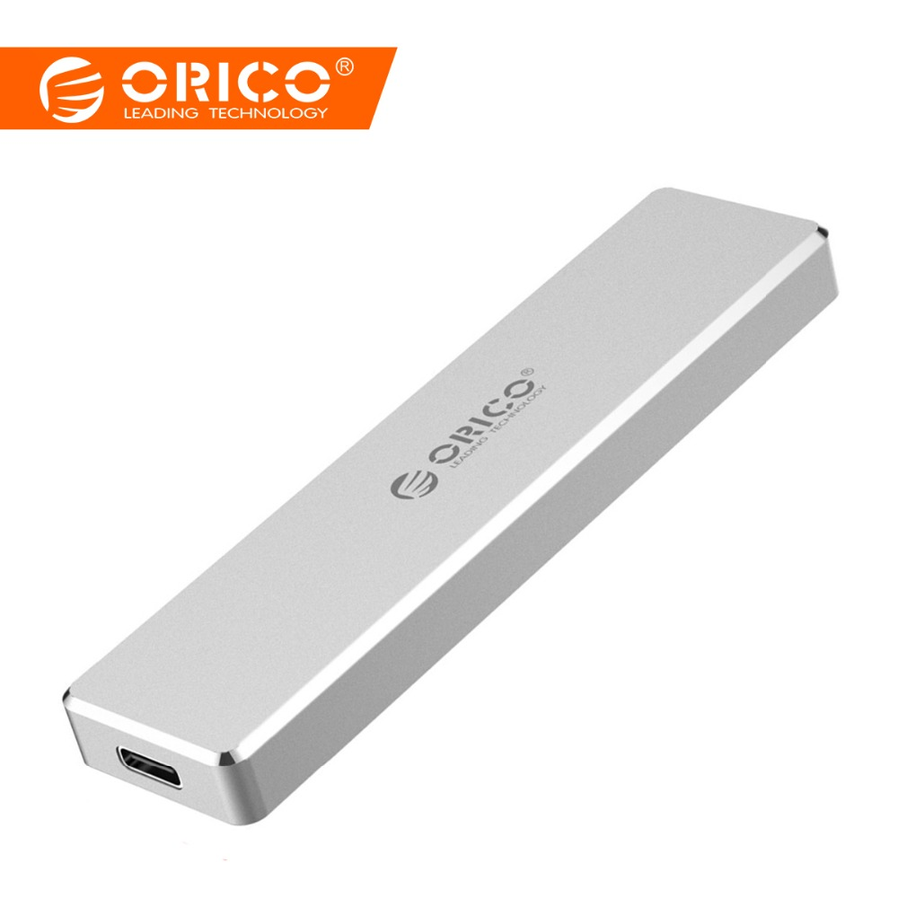 ORICO Mini M.2 USB3.1 SSD Enclosure Type C Gen2 10Gbps M-Key Support UASP Protocol SSD Hard Disk Drive Case External Mobile Box