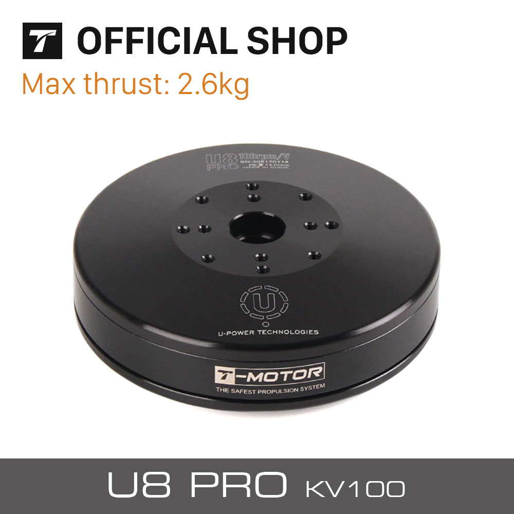 T-motor U8 Pro 100KV Tiger moteur Brushless 6-12S pour RC Multicopter Octocopter Hexacopter hélicoptère Multiroter Drones
