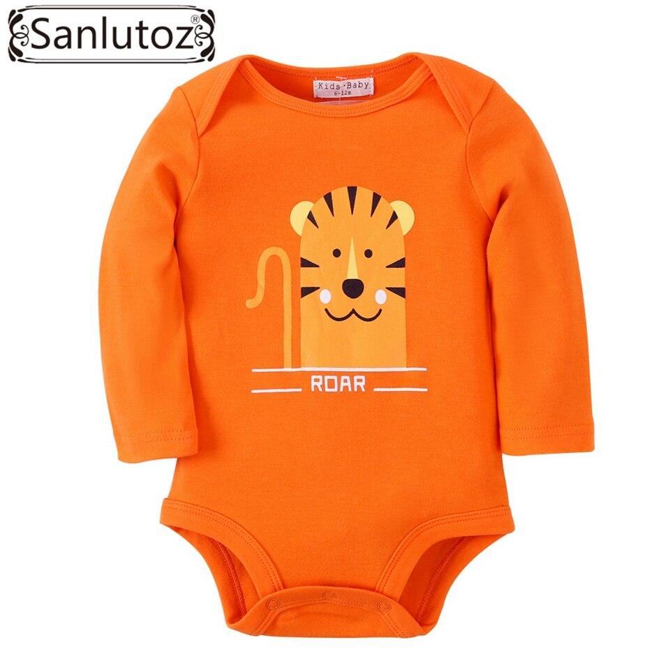 Leuke Babykleding.Sanlutoz Winter Baby Body Tijger Afdrukken Zuigeling Dier Jumpsuits