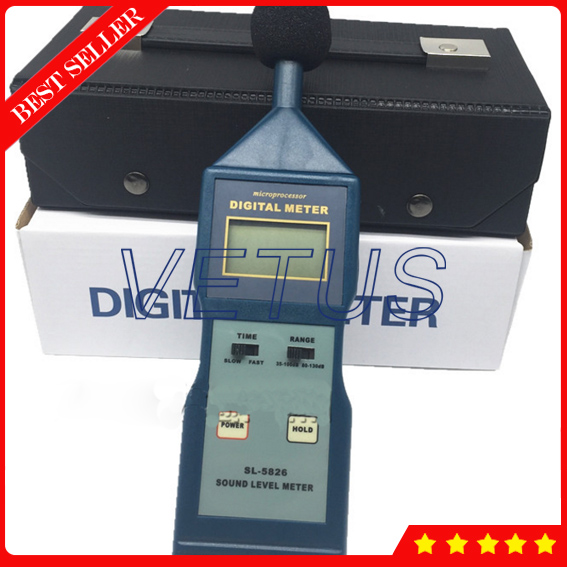 SL-5826 Digital sound level meter price with Noise Level Meter Decibel Monitor Tester mc 7825ps digital water meter price with 2 in 1 multifunctional digital pin