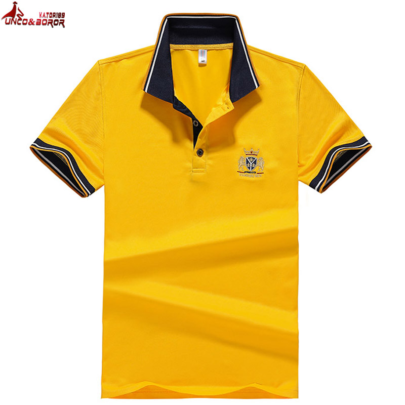 plus size 7XL 8XL Men   Polo   Shirts embroidery lion Breathable Camisa Masculina solid Short Sleeve   Polo   Men Multi-pack
