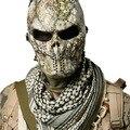 1000005078518 - Esqueleto y cráneo para Airsoft Paintball pistola BB cara completa protección máscara Shot cascos espuma acolchada dentro de ojo negro escudo cubierta completa