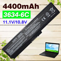 6 celdas de batería portátil para toshiba pa3634u-1bas pa3634u-1brs pa3635u-1bam pa3635u-1brm pa3636u-1bal pa3636u-1brl pa3638u-1bap