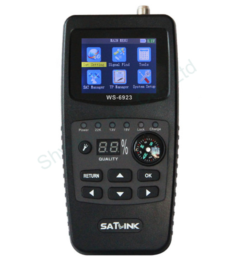 5 Pieces Genuine SATLINK WS-6923 LCD DVB-S Professional Digital Satellite Signal Finder Meter FTA QPSK With Compass