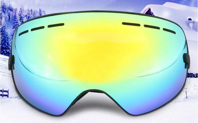 Lunettes de ski professionnelles double couche lentille anti-buée UV400 grandes lunettes de ski ski snowboard hommes femmes lunettes de neige, livraison gratuite