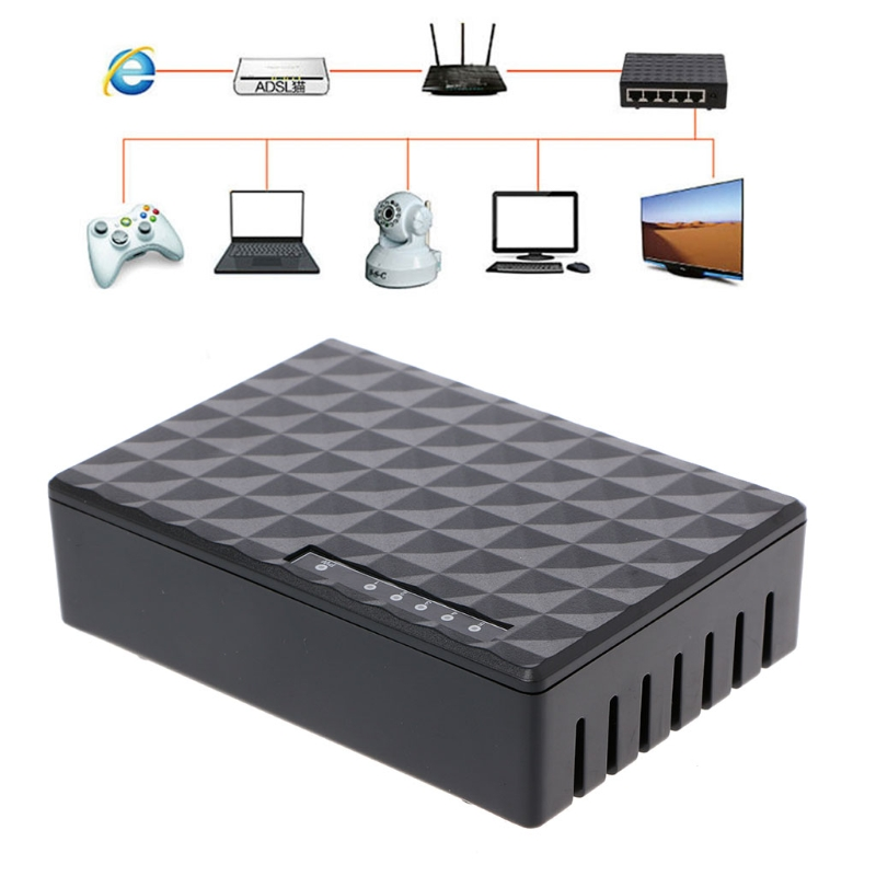 New 5-Port 10/100/1000Mbps Fast LAN Ethernet Network Switch HUB Desktop Mini Adapter hot