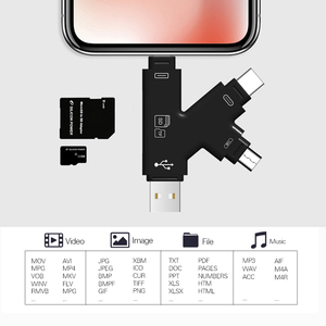 Image 5 - USB di DEVIAZIONE STANDARD TF Card Reader adattatore Per Fulmine Android Tipo C OTG Smart Scheda di Memoria Adattatore Per Notebook iPhone Android desktop