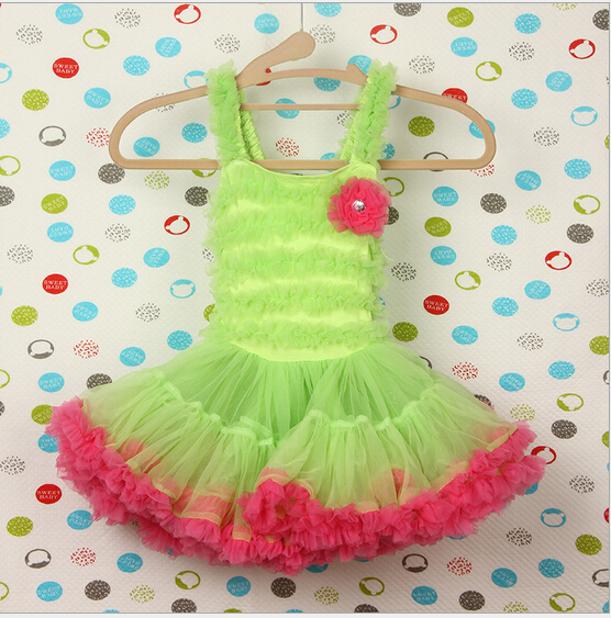 2016 Summer Spring Pretty Girls Dress Kids Clothes Toddler Print Cute Girl Party Easter Dress