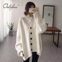 Ordifree 2017 Autumn Winter Women Oversized Sweater Knitted Cardigan Warm Coat Jacket Casual Outwear Long Sleeve