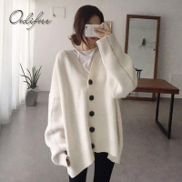 Ordifree 2017 Autumn Winter Women Oversized Sweater Knitted Cardigan Warm Coat Jacket Casual Outwear Long Sleeve