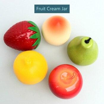 20pcs 30g Cute Fruit Cream Jar Empty Plastic Cosmetic Container Jar Apple Lemon Peach Strawberry Fruit Shape Hand Cream jar