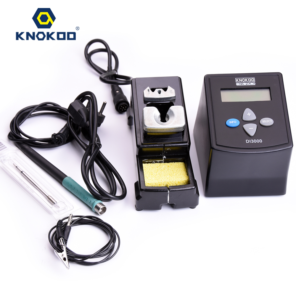 75W 220V/110V KNOKOO DI3000 ESD Safe Digital Display Intelligent Temperature Control Soldering Machine with C245 Solder Tips esd safe 75w soldering handpiece t245a solder iron handle for di3000 intelligent soldering station