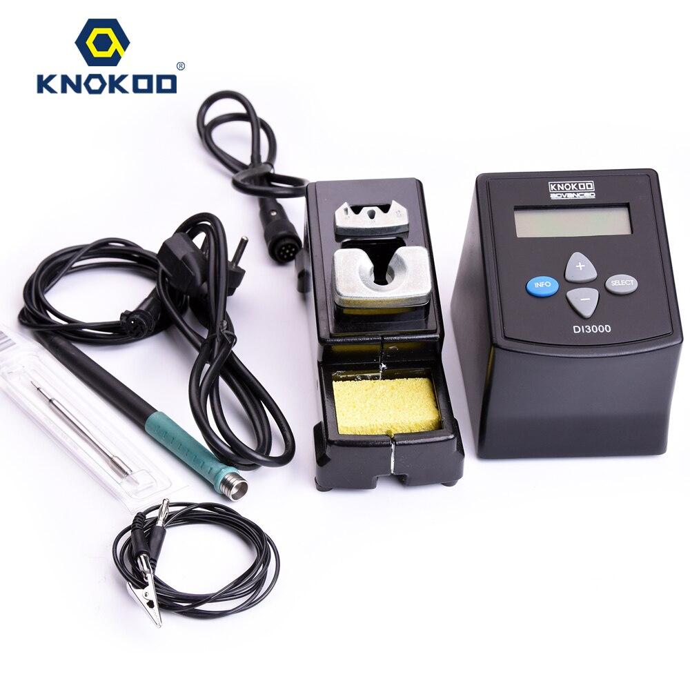 75W 220V/110V KNOKOO DI3000 ESD Safe Digital Display Intelligent Temperature Control Soldering Machine with C245 Solder Tips