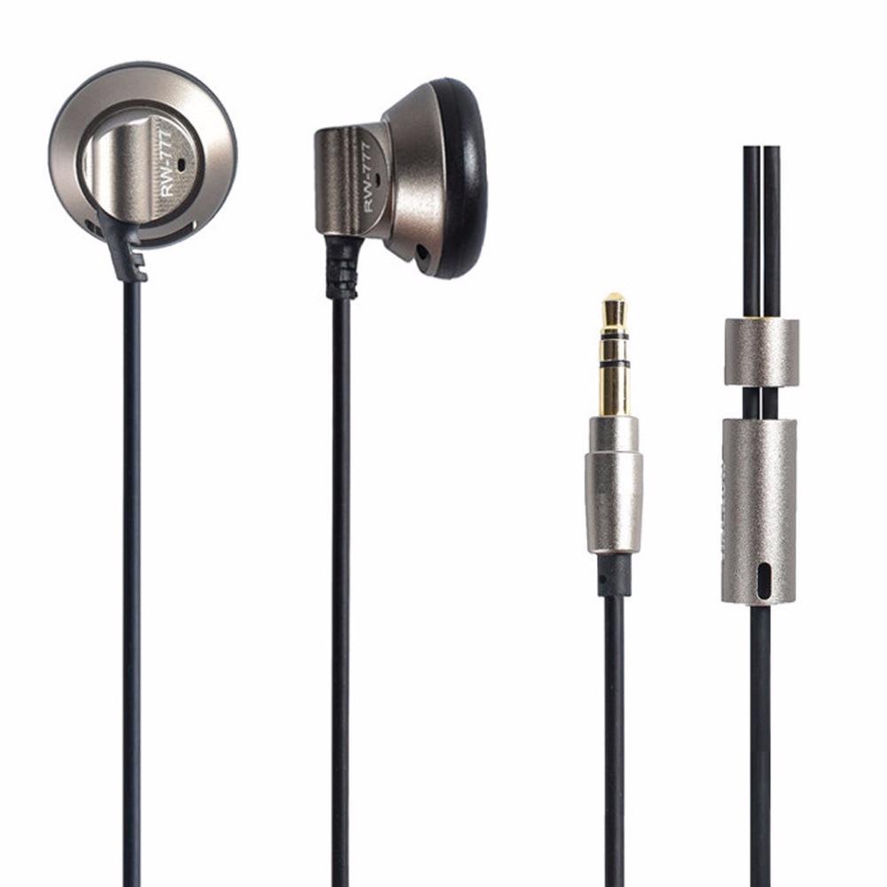 Original YINCROW RW-777 In-ear Earphones Metal Headset Flat Head Earphone Earbuds Professional HIFI Earphone fashion professional in ear earphones light blue black 3 5mm plug 120cm cable