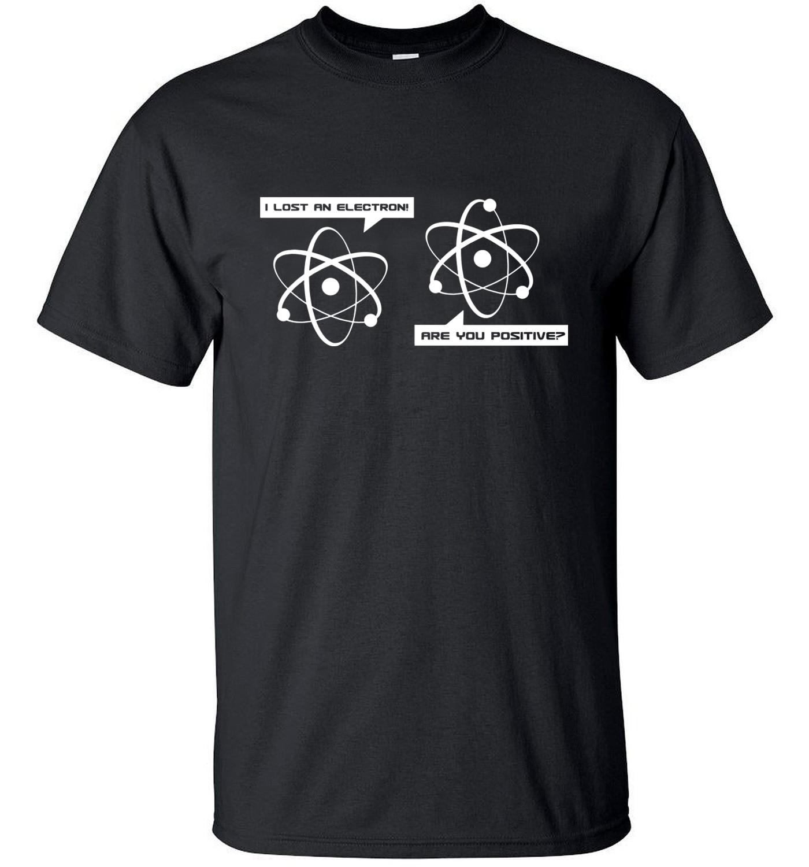 Oberteile Und T-shirts Humor 2019 Big Bang Theorie Ich Verloren Ein Elektron Lustige T-shirt Streetwear Männer Kleidung Mma T Shirts T Tops Pp Marke Kleidung Schlank Das Ganze System StäRken Und StäRken T-shirts