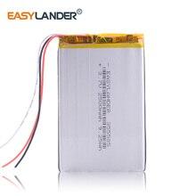3-жильный 355586 3,7 V 2050mAh литий-полимерный литий-ионный аккумулятор Перезаряжаемые Батарея для электронной книги оникс a61 ОНИКС boox aurora i62ml