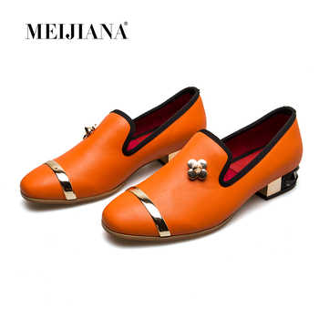 MEIJIANA 2019 Spring Autumn Genuine Leather Low Heels Casual Pumps Genuine Leather Women - DISCOUNT ITEM  40 OFF Shoes