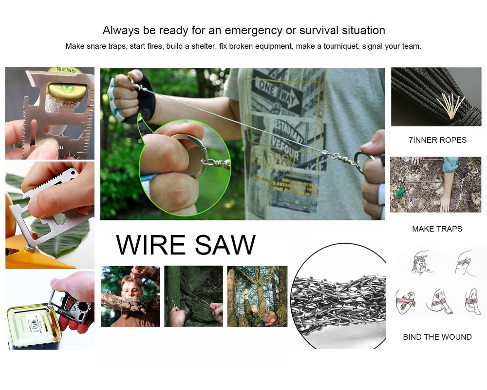 Outdoor Survival Equipment SOS Kit Paracord First Aid Box Supplies Field Self-help Box For Camping Travel Fishing Kit (21)