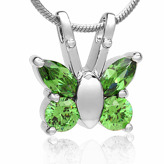 butterfly stainless steel pendant memorial cremation jewelry ashes pendant urn love