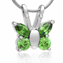Crystal Butterfly Urn Necklace