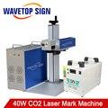 40 Вт CO2 стеклянная трубка лазерная маркировочная машина 1 комплект + JCZ программное обеспечение 2.14.10 + чиллер + lens110x110мм + CO2 гальванометр 1 комп...