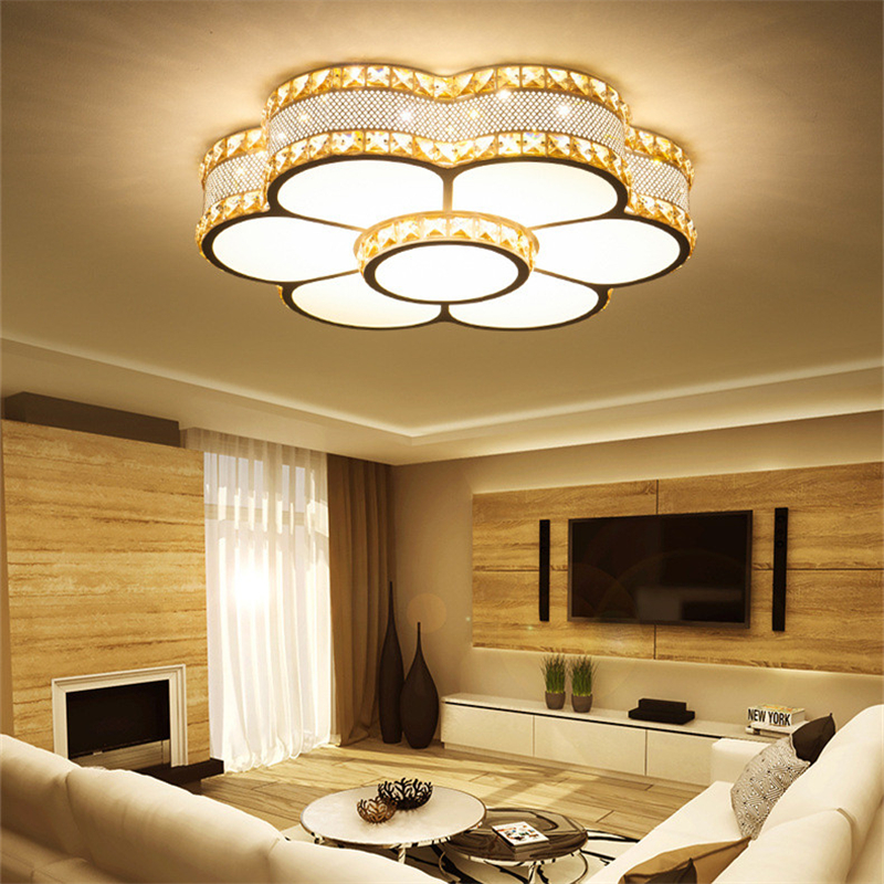 Modern Led Ceiling Lights For Living Room Bedroom Study Room Crystal lustre plafonnier Home Deco Ceiling Lamp цена 2017