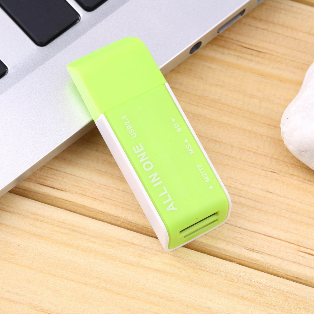 New 3 colors available USB 2.0 Memory Multi Flash Card Reader Adapter For TF M2 MS Wholesale