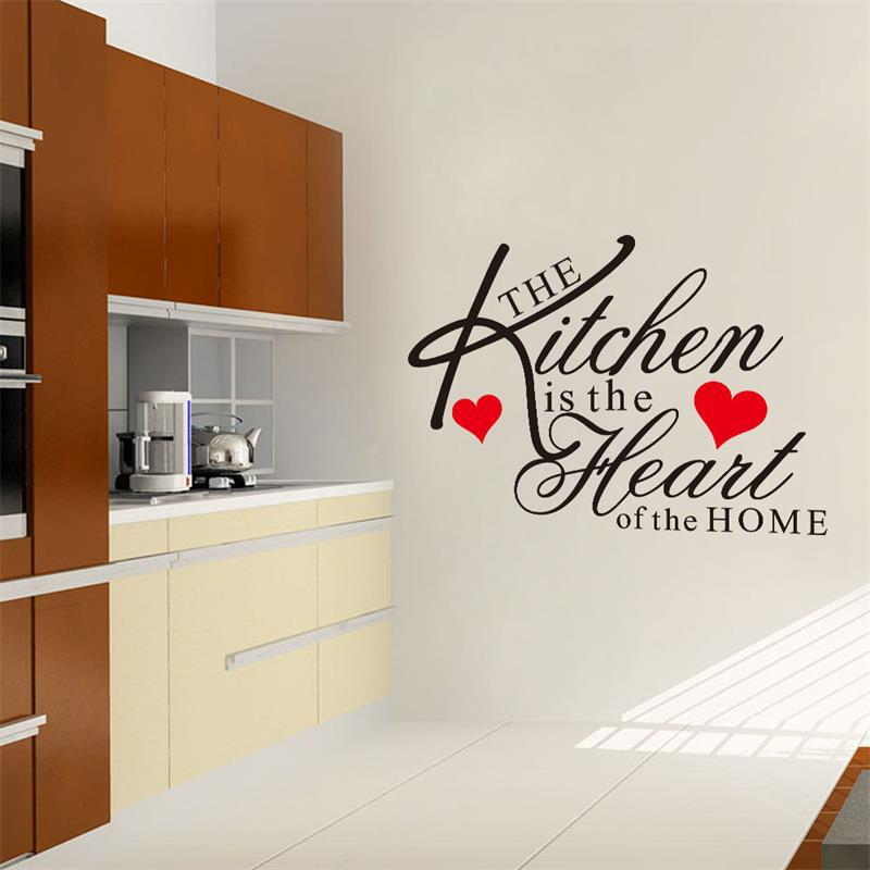 kitchen heart home wall stickers quote waterproof home dining room
