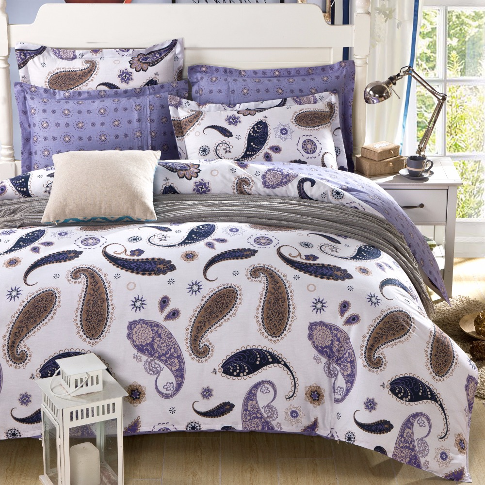 online buy wholesale contemporary comforter from china  - contemporary paisley cotton bedding set duvet cover bed sheet pillow casespcs queen size bed linen