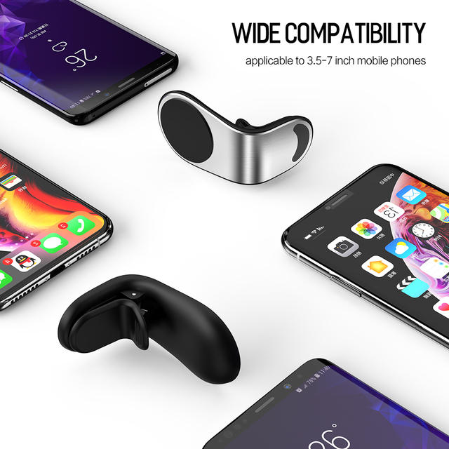 Metal Magnetic Car Phone Holder for iPhone Samsung Xiaomi 360 Air Magnet Stand in Car GPS 5