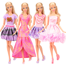 Newest fashion handmade 12 items/lot doll accessories random pick doll clothes skirts for barbie doll dressing best gift girl