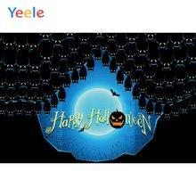 Фон для фотосъемки yeele Хэллоуин вечерние НКА Тыква Луна летучие