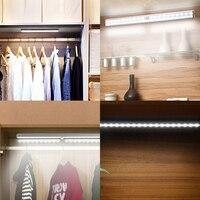 USB 20 LED Rechargeable Automatic Under Cabinet Light PIR Motion Sensor Lamp