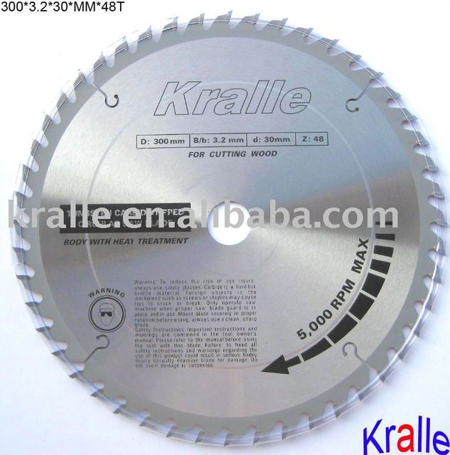 Kralle Brand Professional T.C.T Saw Blade For Cutting Wood