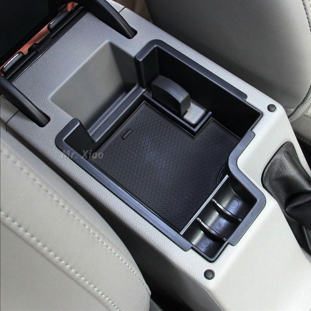Center Console Armrest Storage Box Organizer Tray For Audi
