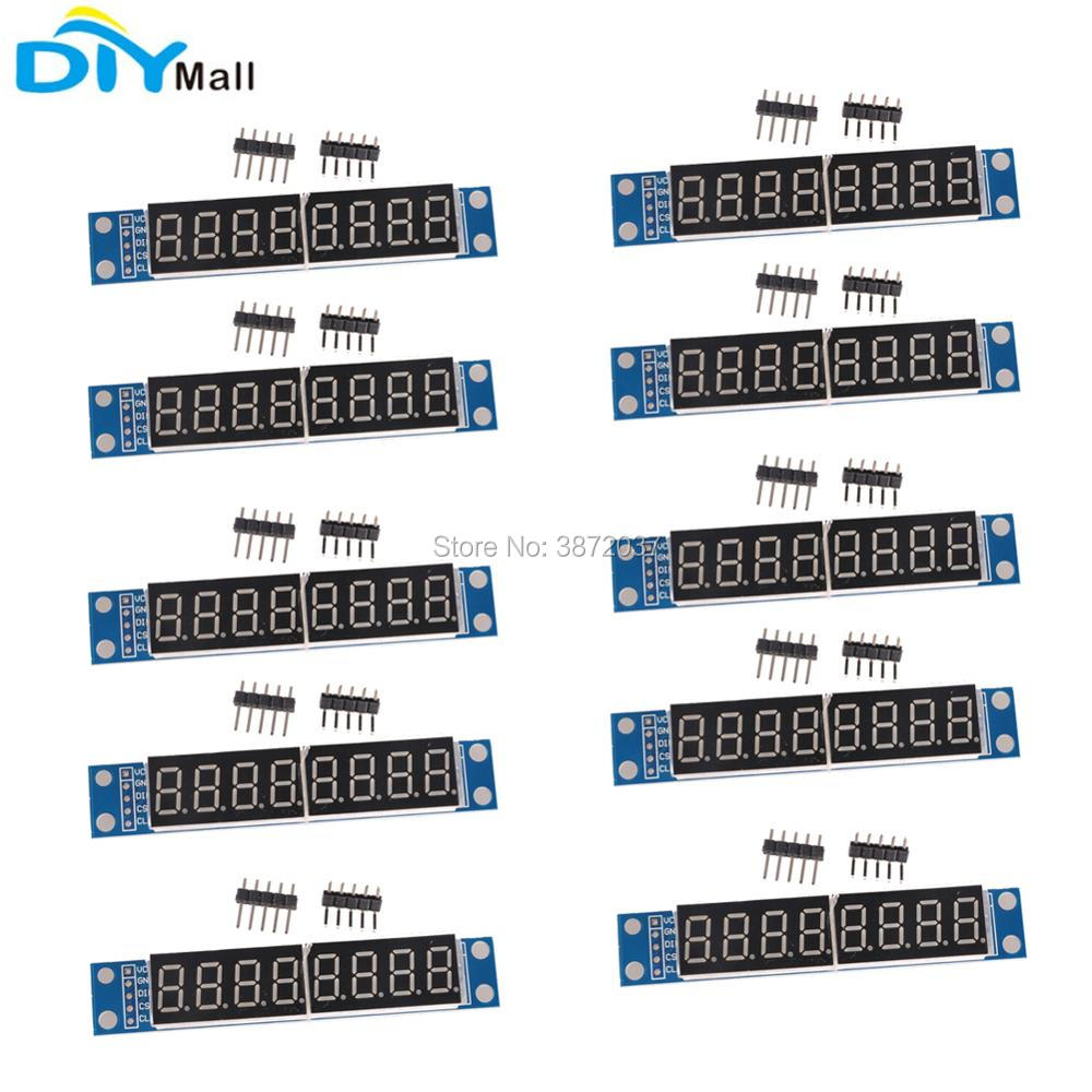 10pcs/lot MAX7219 Digital Tube Display Module 0.36inch 8 Digit Red for Arduino