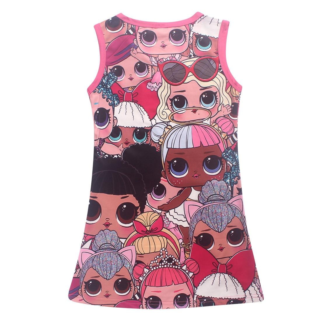 2018 children summer dress sweet dress cartoon doll Ball Gown baby girl clothes girls dress baby girl clothes lol roblox