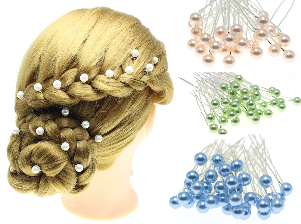 10 pcs New Fashion Simple Pearl Hair Jewelry Wedding Brides Hair Combs For Women Elegant Hairpins Bridal Accessory(8mm) CZ-JD20