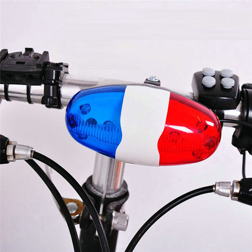 6 LED 4 Sounds Handlebar Ring Electronic Bell Horn Loud Alarm Bell Safety Cycling Bells vintage design Bicycle accessories #2M14