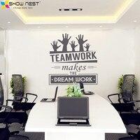 Office Wall Stickers Vinyl Decal Art Office Mural Decor Office Sticker Teamwork Makes The Dream