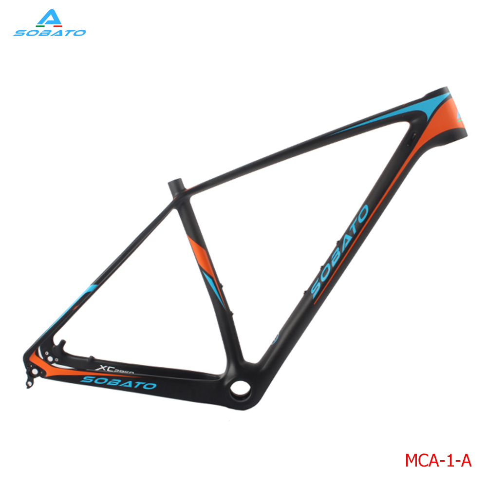 Chinees OEM Carbon MTB Frame 29er Mountain Bike Frames 29 wheels 17'' Size UD Matt with Decal 17 inch mtb bike raw frame 26 aluminium alloy mountain bike frame bike suspension frame bicycle frame
