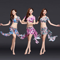 3pcs(Tops+Skirts+Belt) Belly Dance Costumes Set Women for Training Clothing Tops and Skirts Inside with Short A14