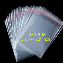 100 Pcs/Lot Self Adhesive Plastic Bag Seal Clear Resealable Cellophane/Poly Bags 8x12 Transparent OPP