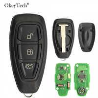 Okeytech 3 Tasten 433 Mhz Smart Auto Remote Key Für Ford Focus Fiesta Mondeo C-Max Kuga 2011 2012 2013 2014 2015 KR55 WK48801