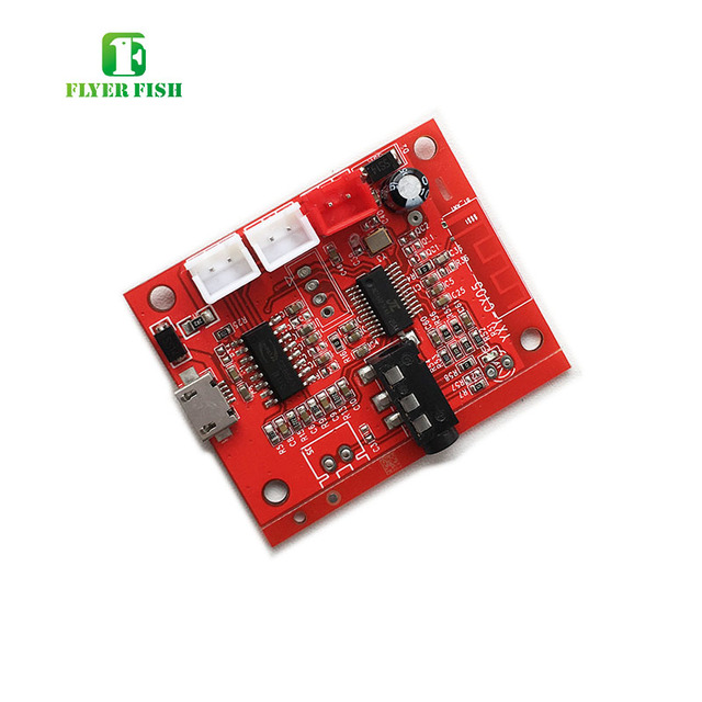 US $5 99 10% OFF  3 7V Bluetooth 4 2 Amplifier Board 5W+5W DIY Audio Music  Module Support Li Battery Charge AUX Line IN MP3 FLAC AMP Module-in
