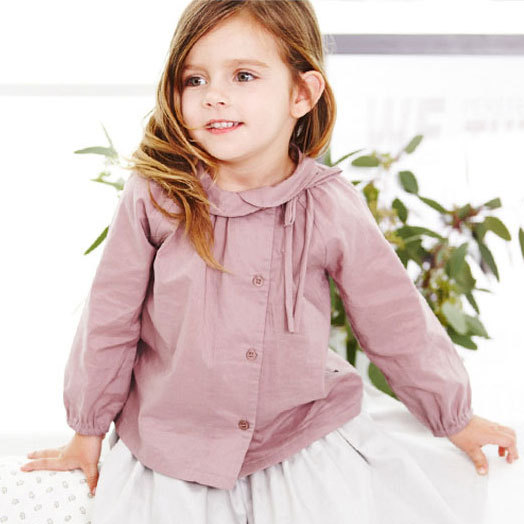New Kids Purple Shirts Baby Girls Spring Or Autumn Children Cotton Simply Quality Girl Tops Blouse Outerwear, Children Clothing