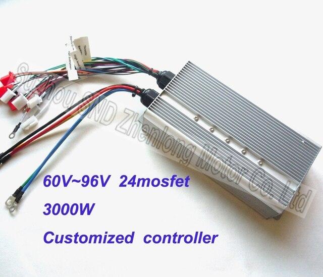 Wide voltageDC60V/72V96V 3000W powerful speed motor controller/ e-bike engines controller factory G-K048