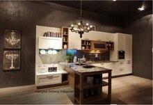 PVC/vinyl kitchen cabinet(LH-PV088)